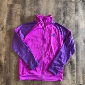 ❗️ Adidas purple climalite zip up Track Jacket